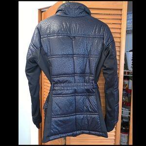 MICHAEL Michael Kors Jackets & Coats - Michael Kors Black Down Puffer Coat Leopard Print